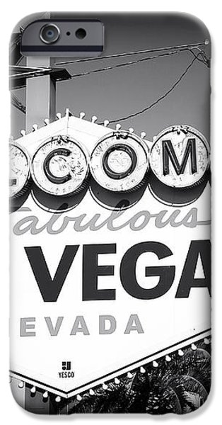 Welcome to Las Vegas Noir iPhone Case by John Rizzuto