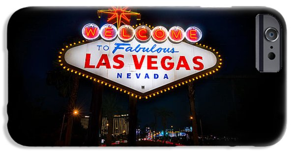 Chance iPhone Cases - Welcome to Las Vegas iPhone Case by Steve Gadomski