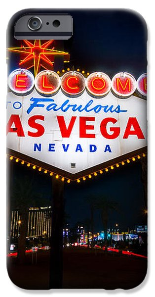 Welcome to Las Vegas iPhone Case by Steve Gadomski