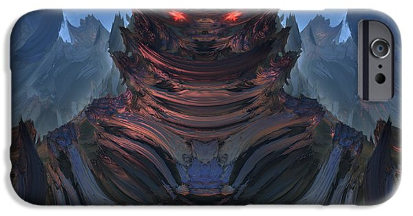 Fractal Other Worlds iPhone Cases - Welcome to my planet iPhone Case by Pauline Olney