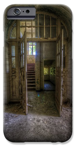 Haunted House Digital Art iPhone Cases - Welcome to my world iPhone Case by Nathan Wright