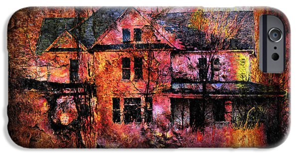 Haunted House Mixed Media iPhone Cases - Welcome To The House By Night iPhone Case by Georgiana Romanovna
