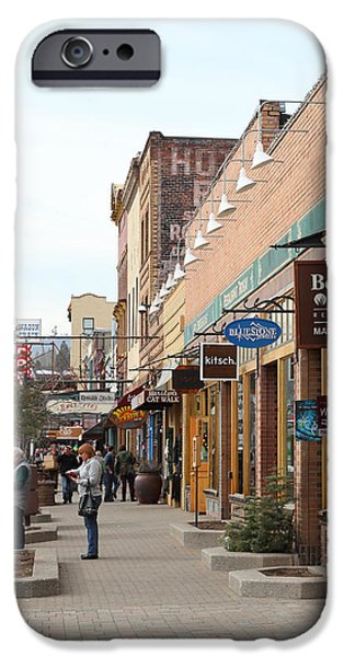 Welcome To Truckee California 5D27445 square iPhone Case by Wingsdomain Art and Photography