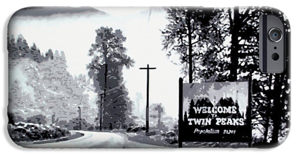 Ludzska iPhone Cases - Welcome to Twin Peaks iPhone Case by Luis Ludzska