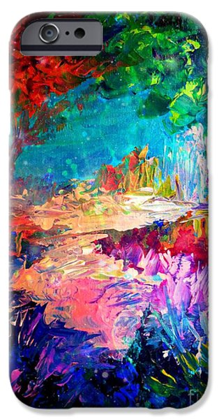 Recently Sold -  - Floral Digital Art Digital Art iPhone Cases - Welcome to Utopia iPhone Case by Julia Di Sano