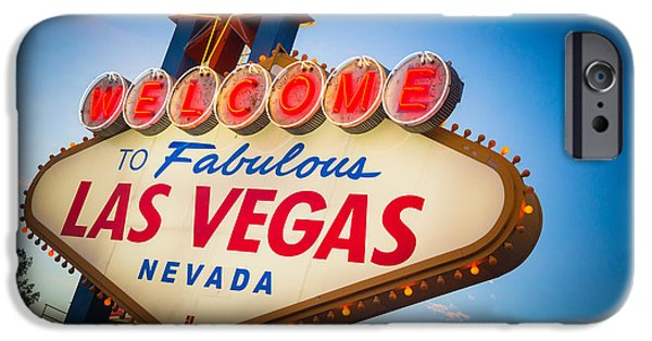 Gambling iPhone Cases - Welcome to Vegas iPhone Case by Inge Johnsson