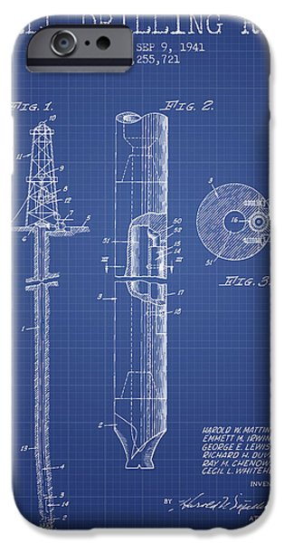 Industry iPhone Cases - Well Drilling Rig Patent from 1941 - Blueprint iPhone Case by Aged Pixel
