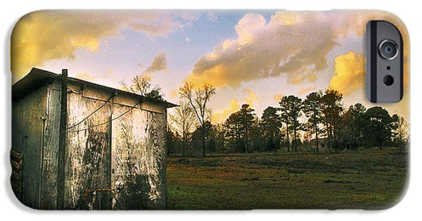 Old Digital Art iPhone Cases - Old Well House iPhone Case by ARTography by Pamela  Smale Williams
