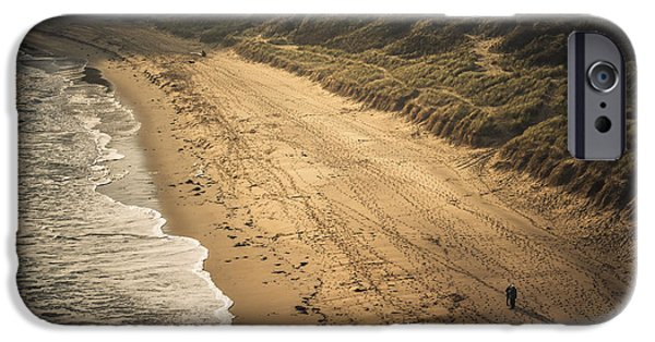 Beach Landscape iPhone Cases - Well trodden iPhone Case by Chris Fletcher
