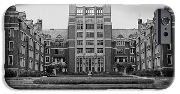 Monotone iPhone Cases - Wellesley Collage Tower iPhone Case by Nomad Art And  Design