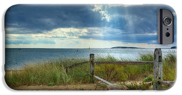 Cape Cod Landscapes iPhone Cases - Wellfleet Harbor Cape Cod iPhone Case by Bill  Wakeley
