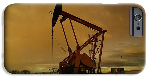 Manufacture iPhone Cases - Wellhead At Dusk iPhone Case by Jeff  Swan