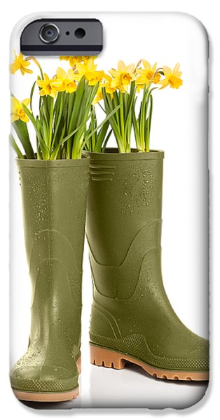 Spring Photographs iPhone Cases - Wellington Boots iPhone Case by Amanda And Christopher Elwell
