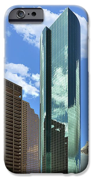 Financial Interest iPhone Cases - Wells Fargo Plaza Houston TX iPhone Case by Christine Till