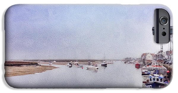 Trawler iPhone Cases - Wells next the Sea Norfolk UK iPhone Case by John Edwards