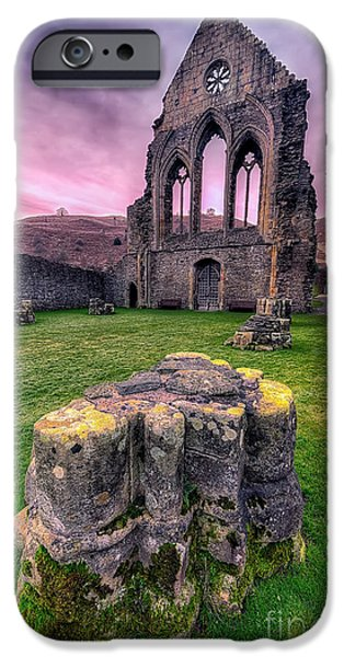 13th Century iPhone Cases - Welsh Abbey  iPhone Case by Adrian Evans