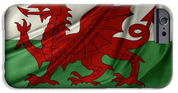 Nation iPhone Cases - Welsh flag iPhone Case by Les Cunliffe
