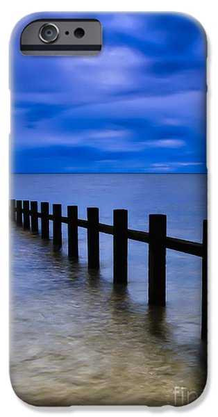 North Sea iPhone Cases - Welsh Seascape iPhone Case by Adrian Evans