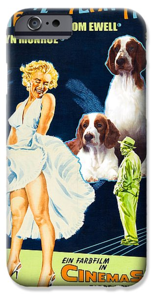 Springer Spaniel iPhone Cases - Welsh Springer Spaniel Art Canvas Print - The Seven Year Itch Movie Poster iPhone Case by Sandra Sij