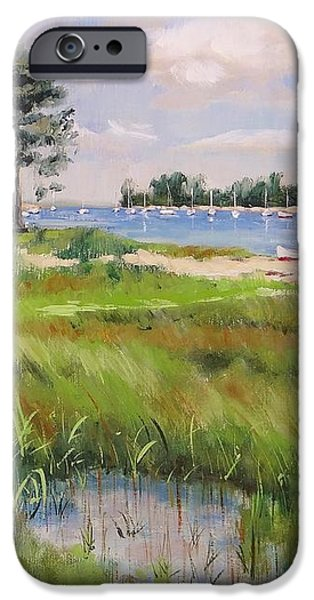 Wentworth By The Sea iPhone Case by Laura Lee Zanghetti