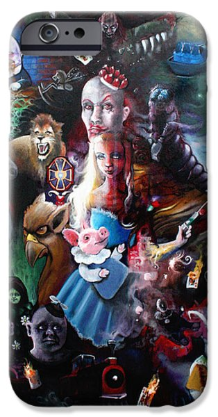 Mad Hatter iPhone Cases - Were All Mad Here iPhone Case by Michael Parsons