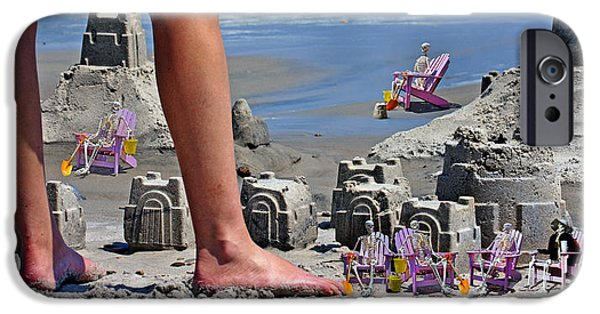 Sand Castles iPhone Cases - Were Moving In iPhone Case by Betsy A  Cutler