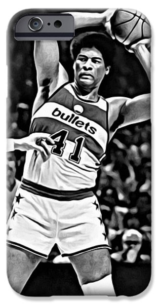 Slam Photographs iPhone Cases - Wes Unseld iPhone Case by Florian Rodarte