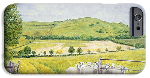 Pathway iPhone Cases - Wessex Sheep iPhone Case by Ditz