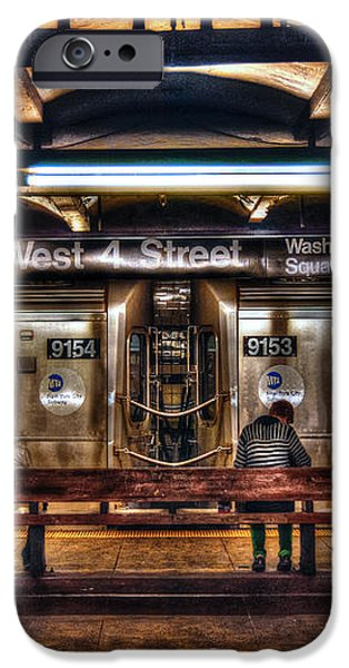 West 4th Street Subway iPhone Case by Randy Aveille