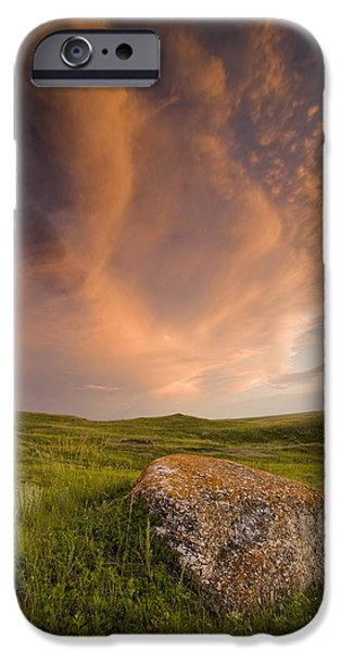 Dave iPhone Cases - West Block Of Grasslands National Park iPhone Case by Dave Reede