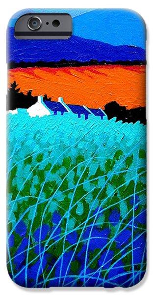 Landscape Acrylic Prints iPhone Cases - West Cork Landscape iPhone Case by John  Nolan