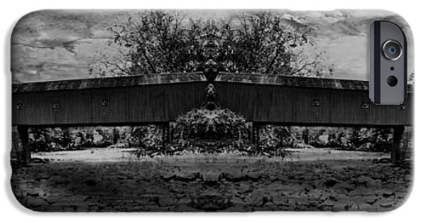 Covered Bridge iPhone Cases - West Cornwall Covered Bridge 9 iPhone Case by Ricardo Dominguez