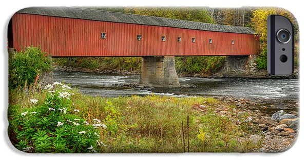 Harts iPhone Cases - West Cornwall Covered Bridge iPhone Case by Bill  Wakeley