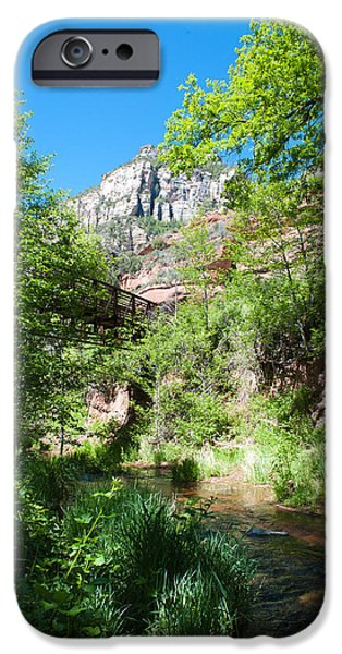 West Fork iPhone Cases - West Fork Bridge iPhone Case by Shannon Hastings