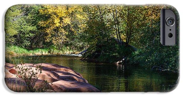 Oak Creek iPhone Cases - West Fork Oak Creek iPhone Case by Tam Ryan