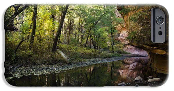 West Fork iPhone Cases - West Fork Reflections  iPhone Case by Saija  Lehtonen