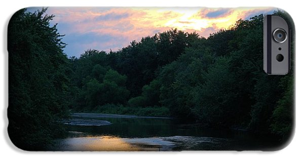 West Fork iPhone Cases - West Fork Sunset iPhone Case by Bonfire Photography