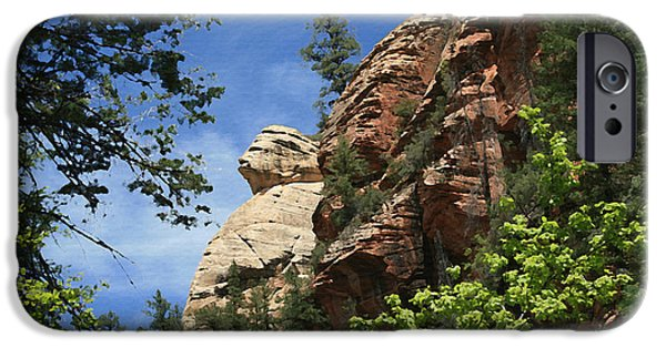 West Fork Paintings iPhone Cases - West Fork Trail Rock Formation iPhone Case by Ellen Henneke
