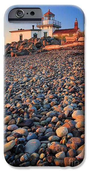 Guides iPhone Cases - West Point Lighthouse Rocks iPhone Case by Inge Johnsson