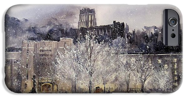 United Paintings iPhone Cases - West Point Winter iPhone Case by Sandra Strohschein