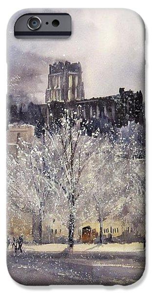 West Point Winter iPhone Case by Sandra Strohschein