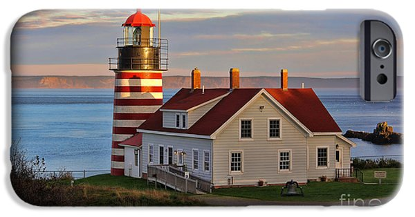West Quoddy Head Lighthouse iPhone Cases - West Quoddy Head Lighthouse 3676 iPhone Case by Jack Schultz