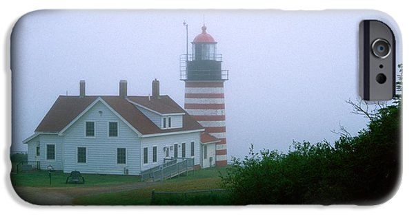East Quoddy Lighthouse iPhone Cases - West Quoddy Lighthouse iPhone Case by Amanda Kiplinger