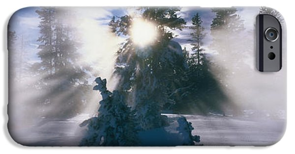 Snowy Day iPhone Cases - West Thumb Geyser Basin Yellowstone iPhone Case by Panoramic Images