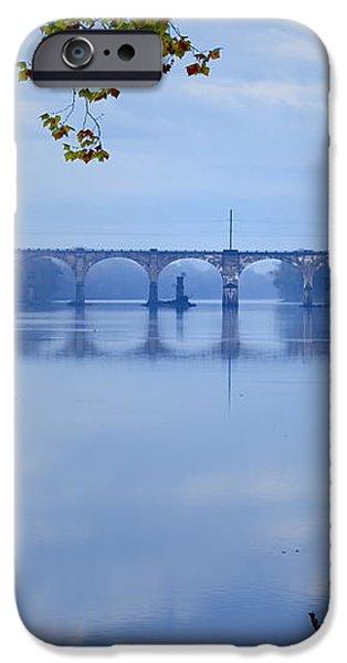 West Trenton Railroad Bridge iPhone Case by Bill Cannon