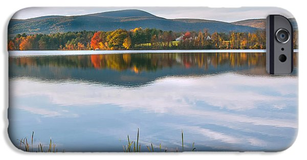 Reflections Photographs iPhone Cases - West Twin Lake Square iPhone Case by Bill  Wakeley