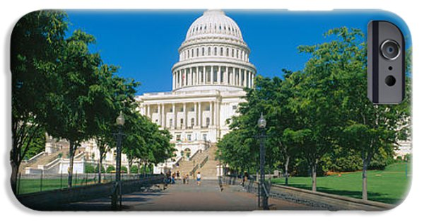 D.c. iPhone Cases - West View Of Us Capitol Building iPhone Case by Panoramic Images