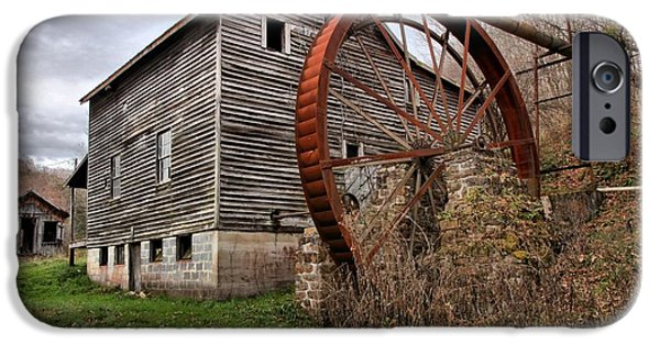 Grist Mill iPhone Cases - West Virginia Historic Grist Mill iPhone Case by Adam Jewell