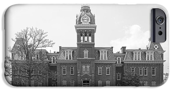 Land-grant iPhone Cases - West Viriginia University Woodburn Hall iPhone Case by University Icons