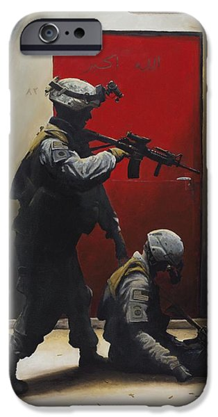 Iraq Paintings iPhone Cases - West vs. East iPhone Case by Joshua Donaldson